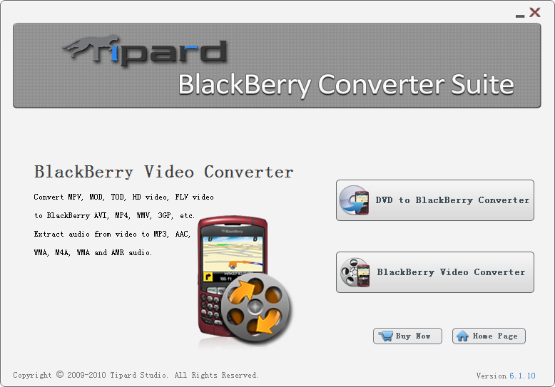 Tipard Blu-ray Converter for Mac – Mac Blu-ray Ripper + Mac DVD Ripper + Mac Video Converter (3-in-1) Screen