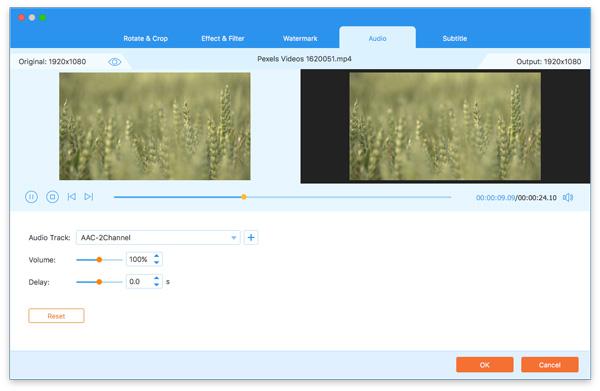 Úpravy zvuku na pozadí videa
