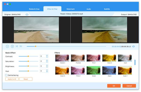 Efektové filtry Video