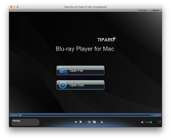 Blu-ray-soitin-käyttöliittymä
