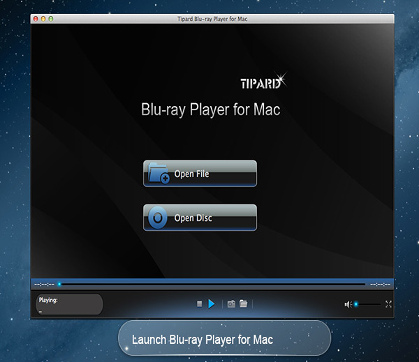 Play Blu-ray disc and any video for Mac.