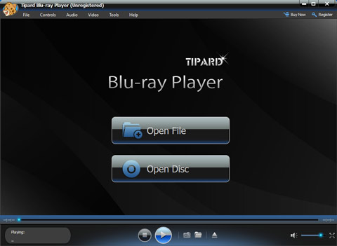 Blu-ray-afspiller interface