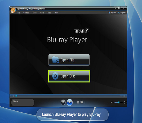 Tipard Blu-ray Player full screenshot