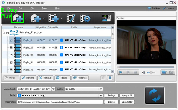 Convert Blu-ray/DVD to DPG Format for NDS Users -- Best Blu-ray Converter to DPG Load-blu-ray