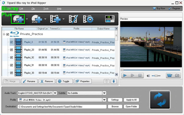 How to rip Blu-ray movie to iPod format? Load-blu-ray