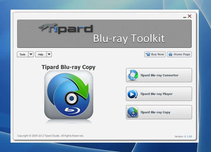 Tipard Blu-ray Toolkit full screenshot