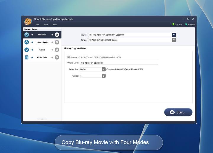 Kopírování Blu-ray