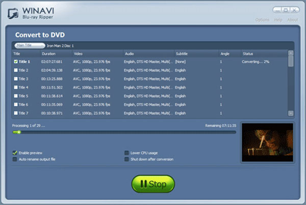 WinAVI Bluray Ripper