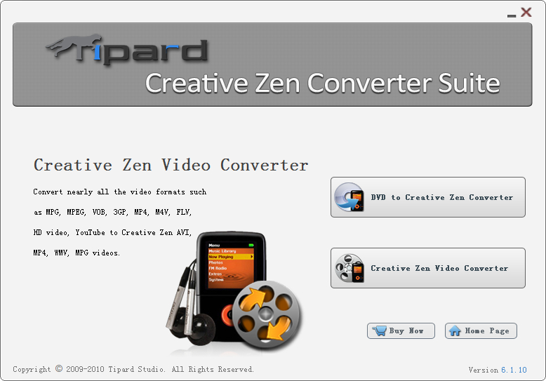 Click to view Tipard Creative Zen Converter Suite screenshots