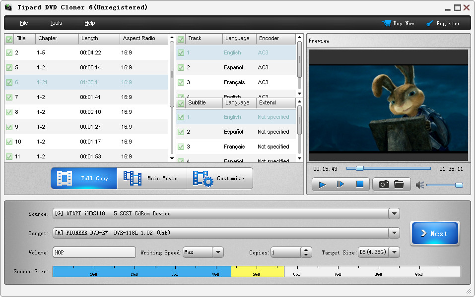 Tipard DVD Cloner screenshot