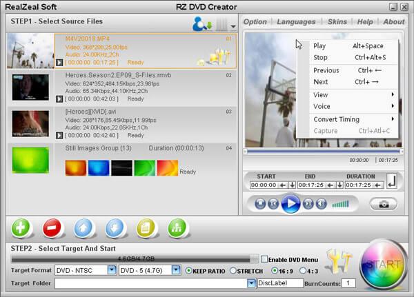 DVD létrehozása