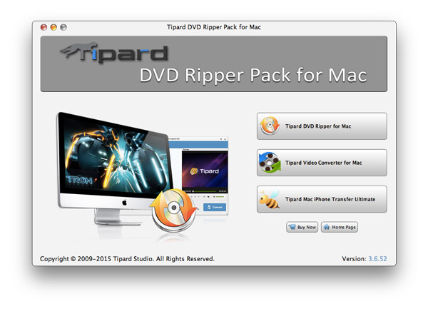 Tipard DVD Ripper Pack for Mac full screenshot