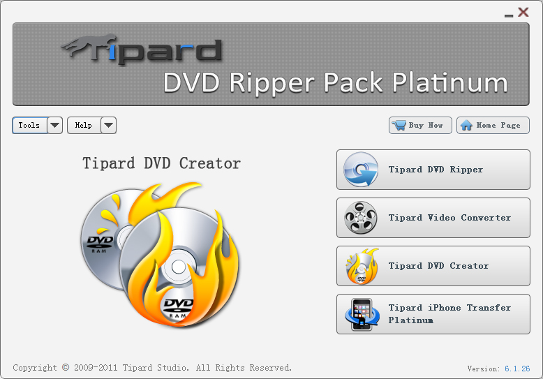 Tipard DVD Ripper Pack platinum for all users Screen-b