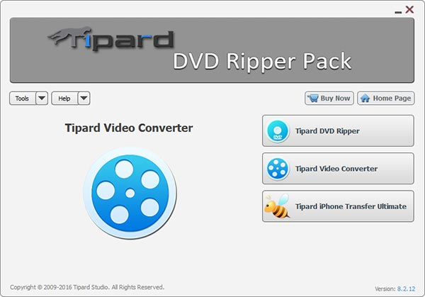 Tipard DVD Ripper Pack Screen shot
