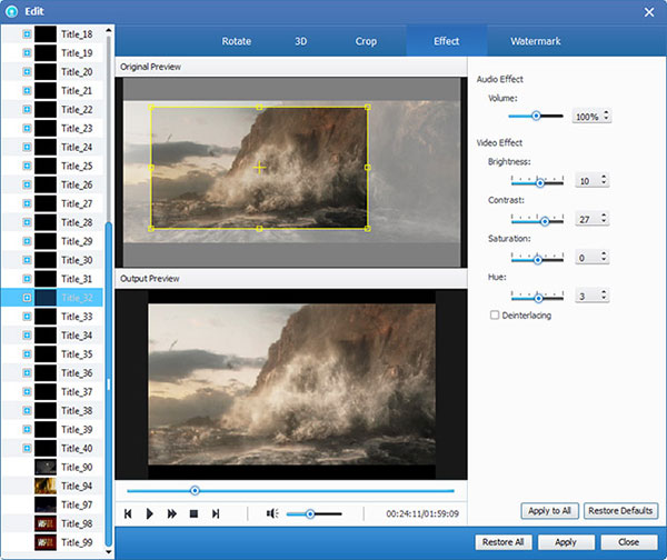 How to Rip DVD to Popular Video Formats Dvd-ripper-effect