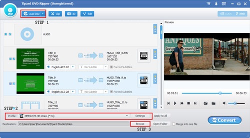 Convert DVD to Various Video Formats (Mac +Win) Guide-interface