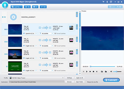 open tipard dvd ripper