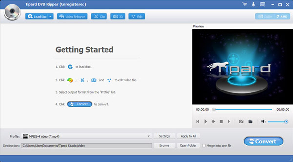 Tipard DVD Ripper full screenshot