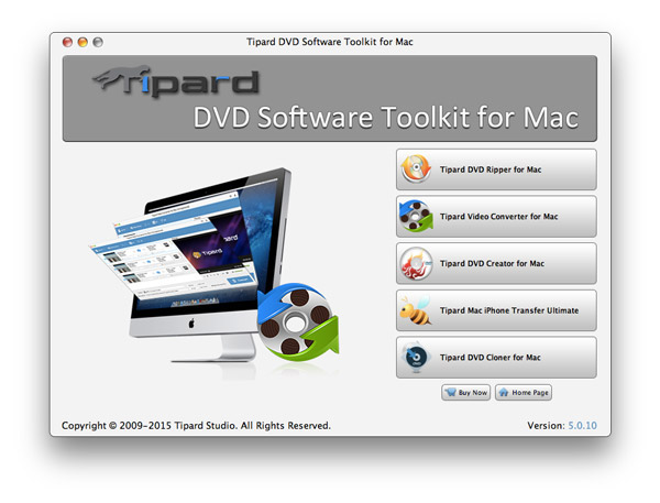 Tipard DVD Software Toolkit for Mac 5.0.76 Screen shot