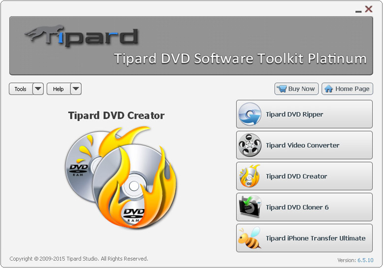 Tipard DVD Software Toolkit Platinum screenshot