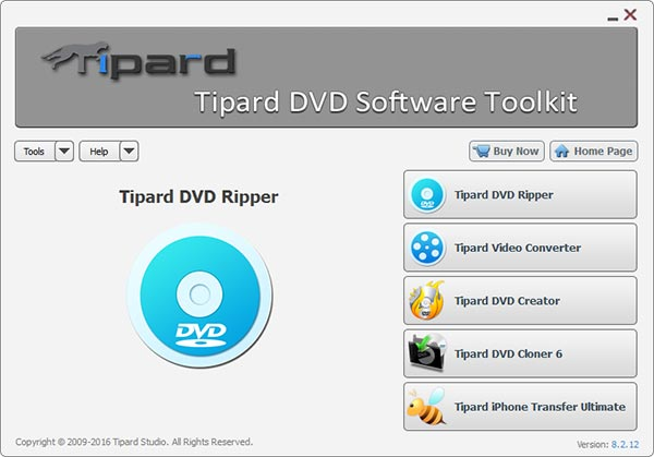 Tipard DVD Software Toolkit Screen shot