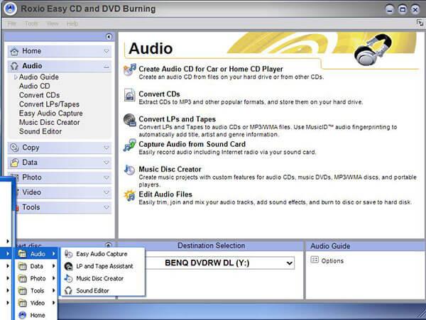 Roxio DVDバーナー