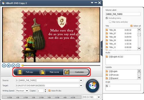 Xilisoft DVD kopiëren