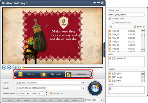 Xilisoft DVD Αντιγραφή