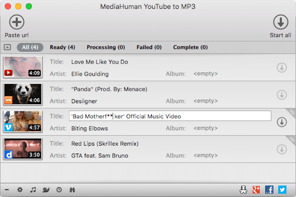 MediaHuman YouTube til MP3 Converter