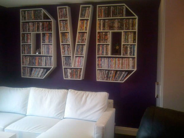 Almacenar DVDs en la pared