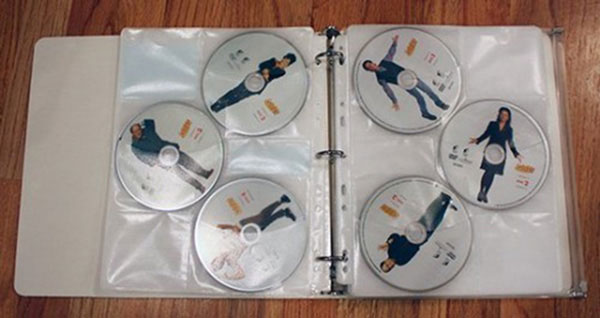Store Your DVDs into Binders