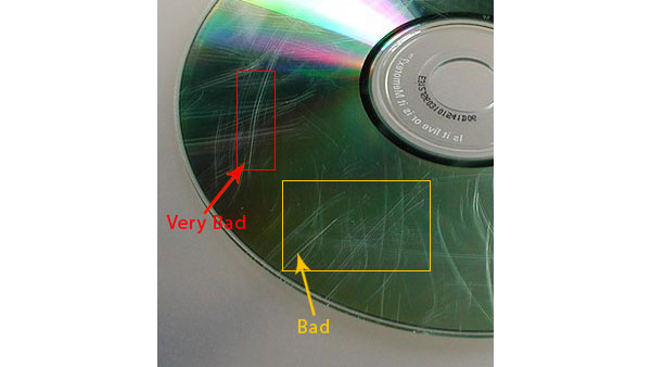 Scratched DVD