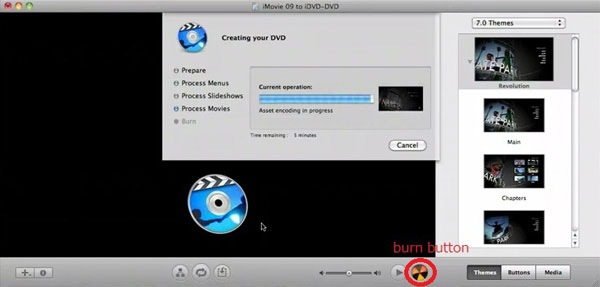 IMovie írása iDVD-re DVD-re
