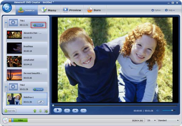 Aimersoft DVD Creator til Mac