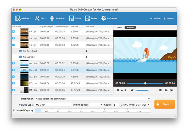 Tipard DVD Creator per Mac