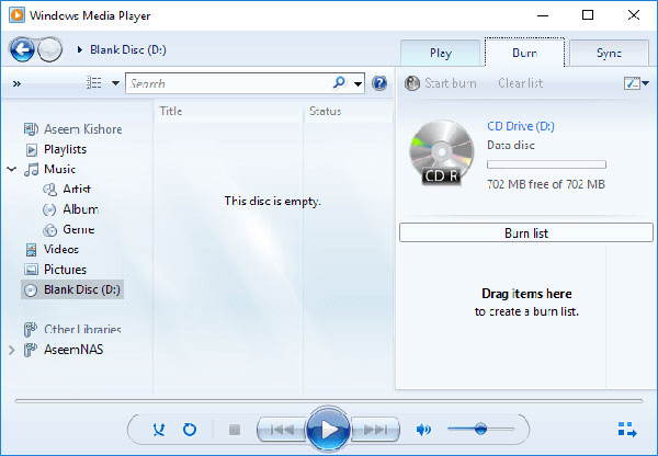 Hvilke cd'er der skal bruges til at brænde musik