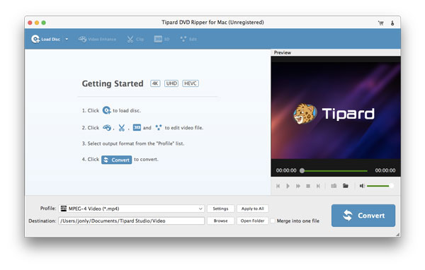 Tipard DVD Ripper per Mac