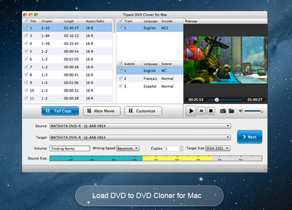 Tipard DVD Cloner for Mac