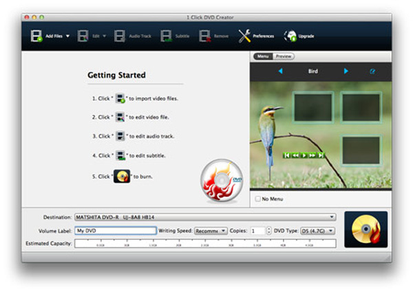 Uruchom program DVD Creator