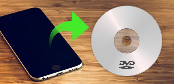 Brand iPhone-video op dvd