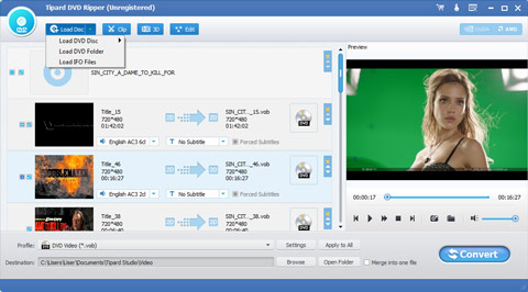 Load dvd ripper