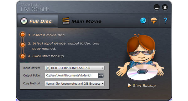DVDSmith Movie Backup для Mac