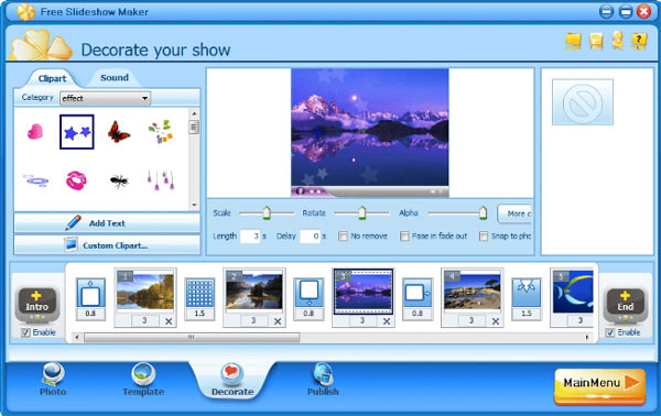 Gratis Slideshow Maker