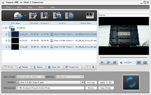 Rip/Convert DVD to iPad 2 Easily & Effectively Load-dvd