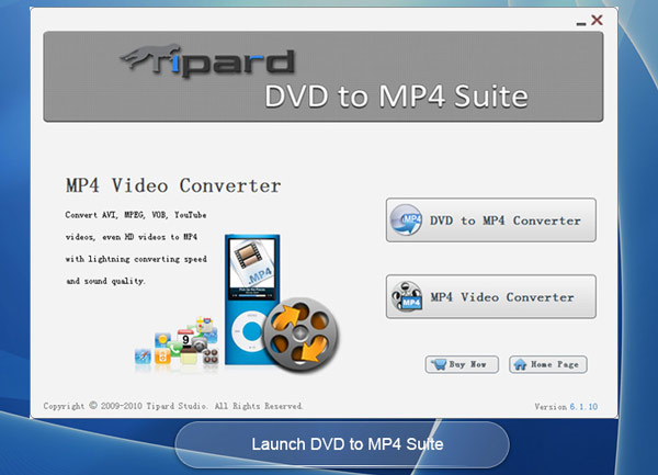 Tipard DVD to MP4 Suite Screen shot