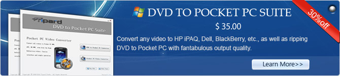dvd to pocket pc suite
