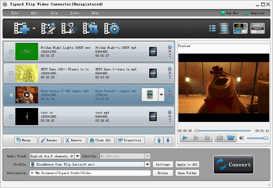 Click to view Tipard Flip Video Converter screenshots