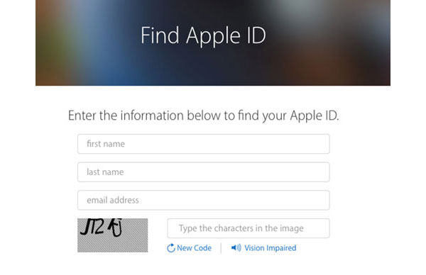 Modtag Apple ID