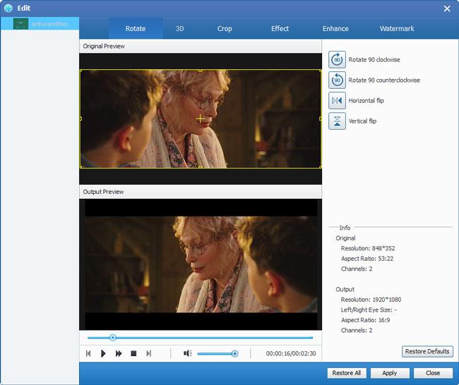Bewerk HD-video