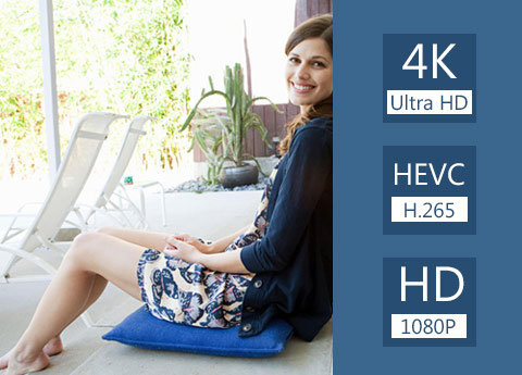 Konverter 4K og enhver HD-video